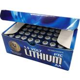 ASP AA Lithium Batteries, 50 Pack