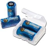 ASP CR123A Lithium Battery 4-Pack with Link Case