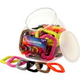 ASP Large Polymer Carabiner Bin, 50-Pack, Assorted Colors