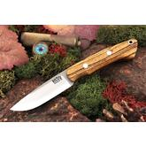 Bark River Knives Featherweight Fox River Fixed 3.25 inch Elmax Blade, Bocote Wood Handles, Leather Sheath