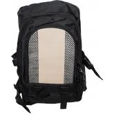 Maxam Nylon Backpack, Black and Tan