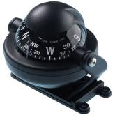 Brunton Lighted Dash Mount Ball Compass, Black