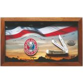 Case Boy Scouts of America Jigged Dark Red Bone Eagle Scout Commemorative Trapper with Display Case (6254 SS