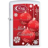 Case Zippo Lighter, Red Christmas Ornaments (50187)