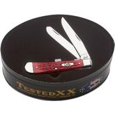 Case Limited Edition Red Bone Trapper in Gift Tin 4-1/8 inch Closed (6254 SS)