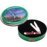 Case Ducks Unlimited Red Bone Trapper 4-1/8 inch Closed, Gift Tin (6254 SS)