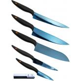 Chroma Cutlery Kasumi Titanium 5 Piece Knife Set (Free Sharpener), Coated Molybdenum Vanadium Steel