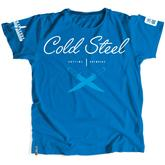 Cold Steel TK4 Women's Blue T-Shirt - Cross Guard, XL
