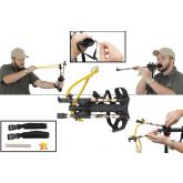Combat Ready Blow Dart and Slingshot 2-in-1 Combo, Camo and Black