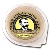 Colonel Conk Super Size Almond Fragrance Shave Soap 3 inch Diameter with Glycerine Base