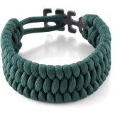 Columbia River 9400G Tom Stokes Adjustable Paracord Bracelet, Green