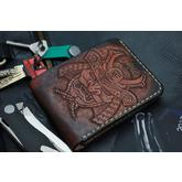 Custom Knife Factory Handmade Leather Wallet, Samurai