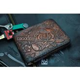 Custom Knife Factory Handmade Leather Wallet, SMRPZDZ