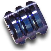 Darrel Ralph Designs Polished Blue Titanium L1 Mega Bead