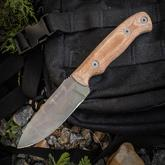 Dawson Knives Custom Huntsman Fixed 4 inch 80CrV2 Sandstone Blade, Tan Micarta Handles, Highlander Kryptek Kydex Sheath
