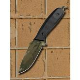 DPx Gear Custom Shop HEFT 4 Fixed 4 inch MultiCam Niolox Blade, Black G10 Handles, Cordura Sheath