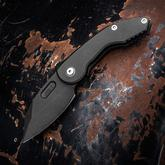 DSK Tactical Custom Mini VX Folding Knife 3 inch CPM-154 Black PVD Blade and Milled Titanium Handles