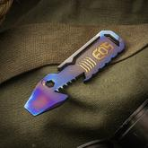 Elite Outfitting Solutions EOS Flamed Titanium TiShark Pry Bar Multi-Tool