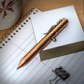 Brian Fellhoelter Custom CuTiNyBolt Copper Engraved Pen, 4 inch Overall