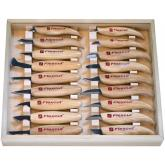 Flexcut 18-Piece Deluxe Knife Set, 18 Different Style Blades, Ash Wood Handles, Storage Box
