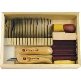 Flexcut Deluxe Starter Set, 17 Different Style Blades w/ SlipStrop, Compound and Storage Box