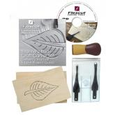 Flexcut Beginner 2-Piece Craft Carver Set, 2 Different Style Blades w/ Knife Roll