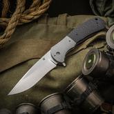 Aaron Frederick Custom FS-1 Liner Lock Flipper 4 inch CPM-154 Recurve Drop Point Blade, Carbon Fiber Handles with Titanium Bolsters