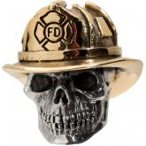 GD Skulls USA Bronze FF1 Firefighter Bead