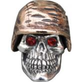 GD Skulls USA SP1-A Small Soldier Helmet 1 Skull with Bejeweled Eyes