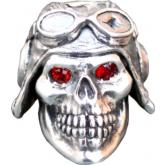 GD Skulls USA SP5-A Small Pilot 3 Skull with Bejeweled Eyes