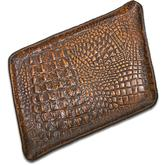 Greg Everett Handcrafted Custom Leather Valet Tray 11.5 inch X 8.25 inch Rustic Brown Finish