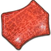 Greg Everett Handcrafted Custom Leather Valet Tray 11 inch X 7.75 inch Rustic Red Finish