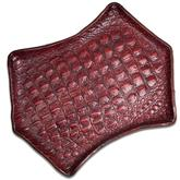 Greg Everett Handcrafted Custom Gator Stamped Leather Valet Tray 11.125 inch X 8.5 inch Rustic Reddish Brown Finish