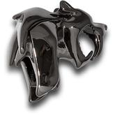 HEAdesigns Brass Sabertooth Bead, Chrome Black