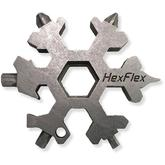 HexFlex Metric Adventure Tool 2.5 inch Overall, Stonewashed Stainless Steel