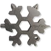 HexFlex Standard Adventure Tool 2.5 inch Overall, Stonewashed Stainless Steel
