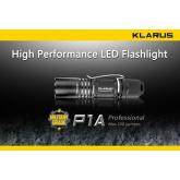 Klarus P1A LED AA Flashlight, Black Body, 150 Max Lumens