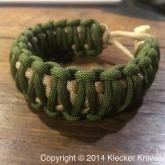 Glenn Klecker KLAX-PARA 8 inch Paracord Bracelet, Green and Tan