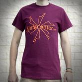KnifeCenter.com Gildan Large 100% Cotton T-shirt Maroon w/ Front Logo