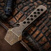 KnifeGuys Pry Bronze Tumbled Titanium Pry Bar and Bottle Opener
