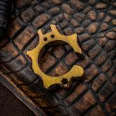 KnifeGuys 0.375 inch Thick Custom  inchGolden Groot'd inch Chubby Titanium Tipsy Turtle Bottle Opener