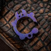 KnifeGuys 0.375 inch Thick Custom  inchMystic Purple Groot'd inch Chubby Titanium Tipsy Turtle Bottle Opener