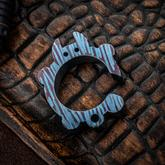KnifeGuys 0.375 inch Thick Custom  inchSatin Teal Groot'd inch Chubby Titanium Tipsy Turtle Bottle Opener
