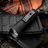 LensLight Mini Black LED Flashlight, Smooth Bezel, Dual Output, 330 Max Lumens