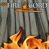Live Fire Gear 550 FireCord Paracord, Coyote Brown, 25 Feet