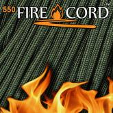 Live Fire Gear 550 FireCord Paracord, Olive Drab, 25 Feet
