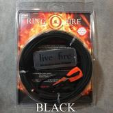 Live Fire Gear Ring O Fire, Live Fire Emergency Fire Starter, Black 550 FireCord Paracord, 25 Feet