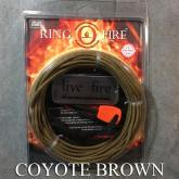 Live Fire Gear Ring O Fire, Live Fire Emergency Fire Starter, Coyote Brown 550 FireCord Paracord, 25 Feet