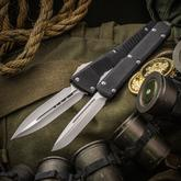 Marfione Custom Knives Custom Combat Troodon/Ultratech John Wick Continental Set with 3 Gold Challenge Coins and Pelican Case