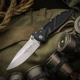 Marfione Custom Knives Socom Elite Prototype 4 inch M390 Two-Tone Clip Point Blade, Aluminum Handles with Rubber Traction Inlays